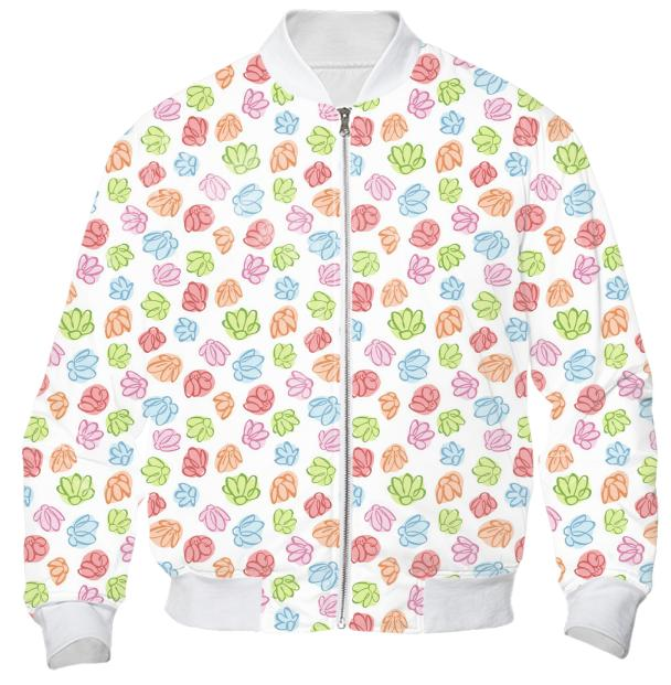 Wobbly Wobbly Flowers Bomber Jacket