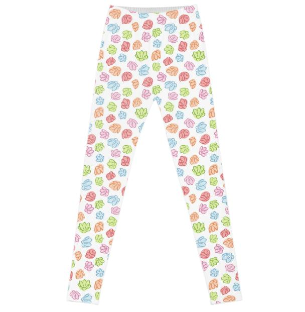Wibbly Wobbly Flowers Leggings