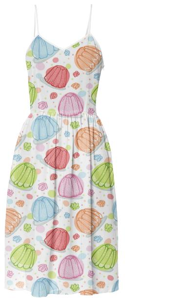 Wibbly Wobbly Jelly Summer Dress