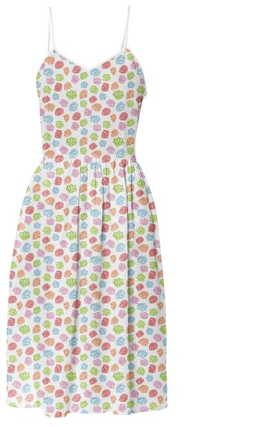 Wibbly Wobbly Flowers Summer Dress