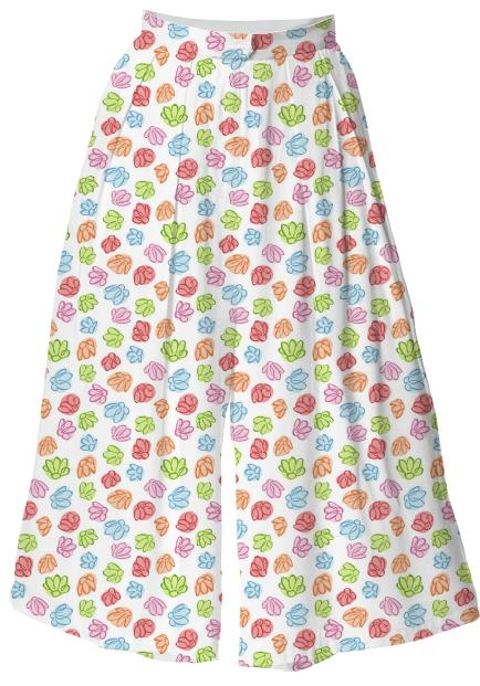 Wibbly Wobbly Flowers Culotte