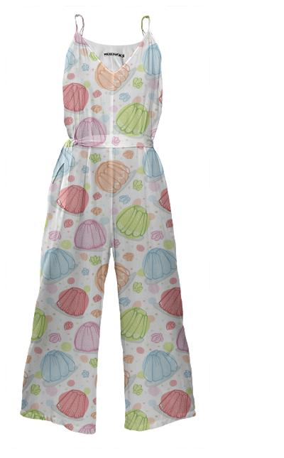 Wibbly Wobbly Jelly Tie Waist Jumpsuit