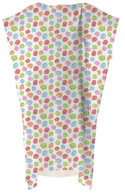 Wibbly Wobbly Flowers Square Dress