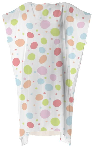 Wibbly Wobbly Dots Square Dress