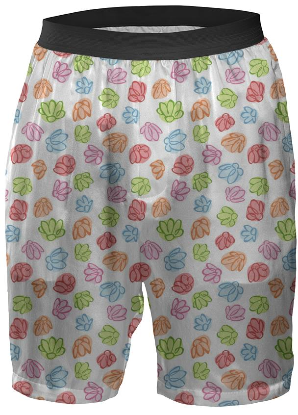 Wibbly Wobbly Flowers Boxer Shorts