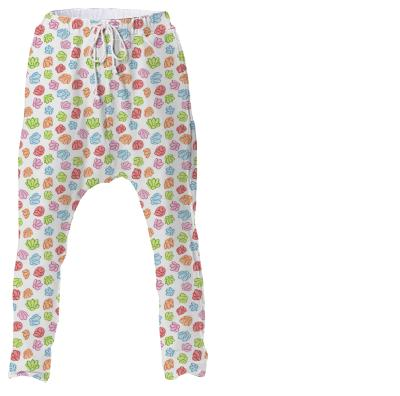 Wibbly Wobbly Flowers Drop Pant
