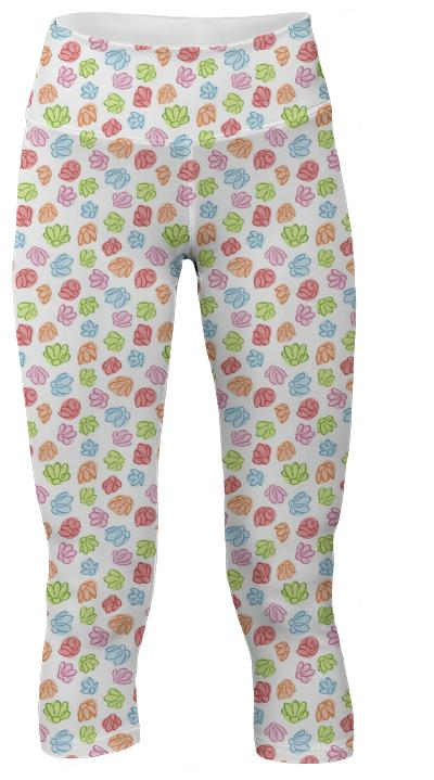 Wibbly Wobbly Flowers Yoga Pants