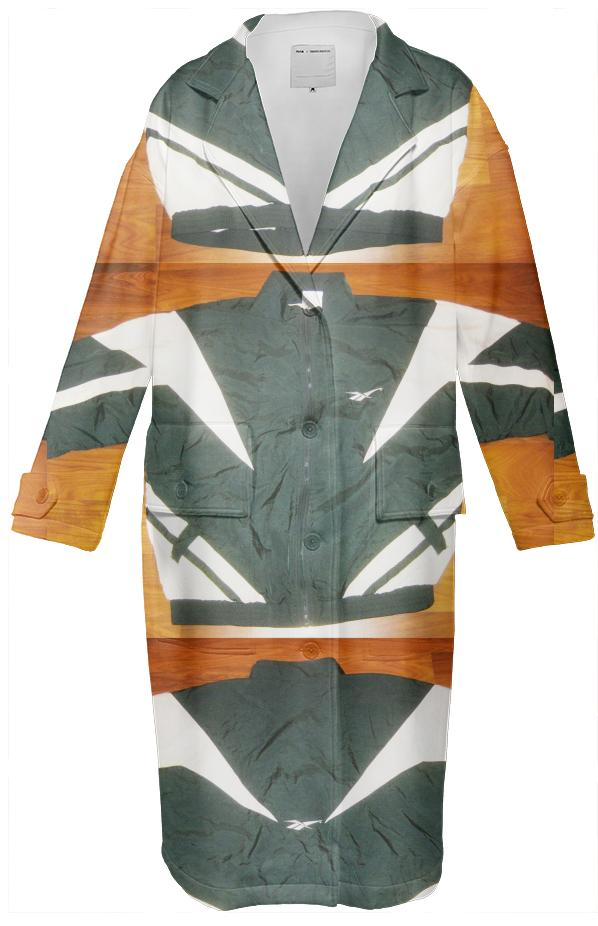 PAOM, Print All Over Me, digital print, design, fashion, style, collaboration, cheryl-donegan, cheryl donegan, Neoprene Trench, Neoprene-Trench, NeopreneTrench, ExtraLayer, Double, Deepgreen, Tracksuit, autumn winter, unisex, Neoprene, Outerwear