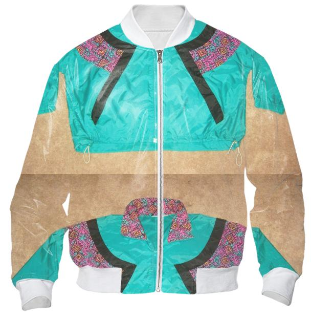 Extralayer Bomber Jacket in Green Floral