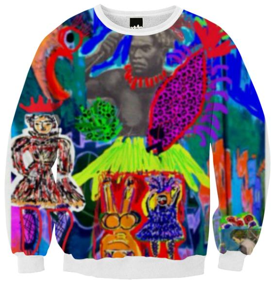 Zulu Warrior Collage Sweatshirt