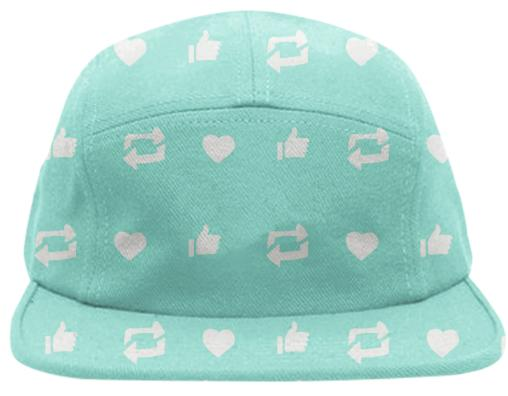 PAOM, Print All Over Me, digital print, design, fashion, style, collaboration, jhnmclghln, Baseball Hat, Baseball-Hat, BaseballHat, Social, Media, spring summer, unisex, Poly, Accessories