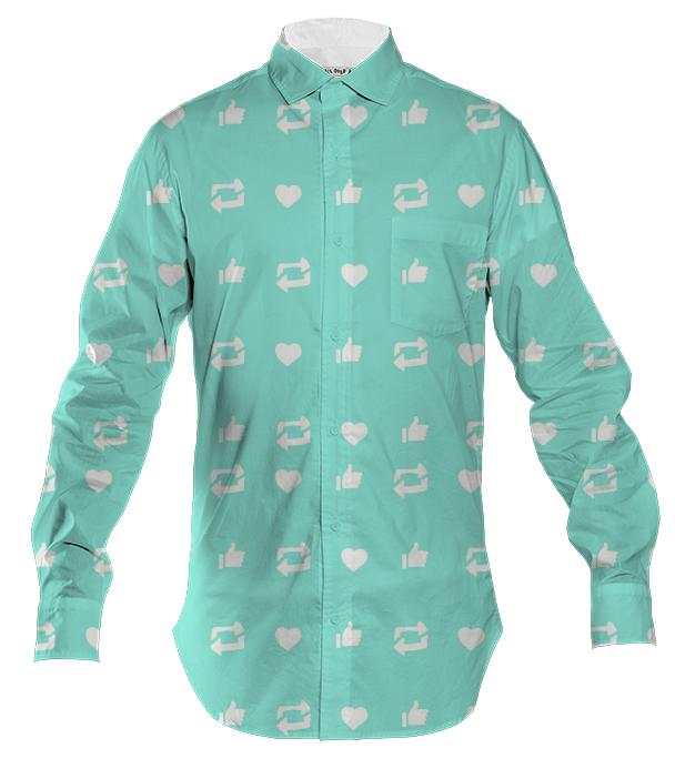 Social Media Men s Button Down