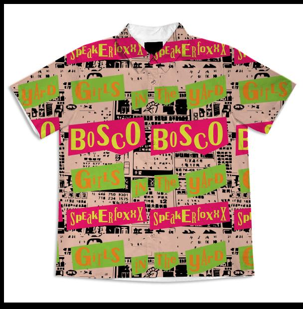 PAOM, Print All Over Me, digital print, design, fashion, style, collaboration, bosco, Short Sleeve Workshirt, Short-Sleeve-Workshirt, ShortSleeveWorkshirt, BOSCO, Speakerfoxxx, Blouse, spring summer, unisex, Cotton, Tops