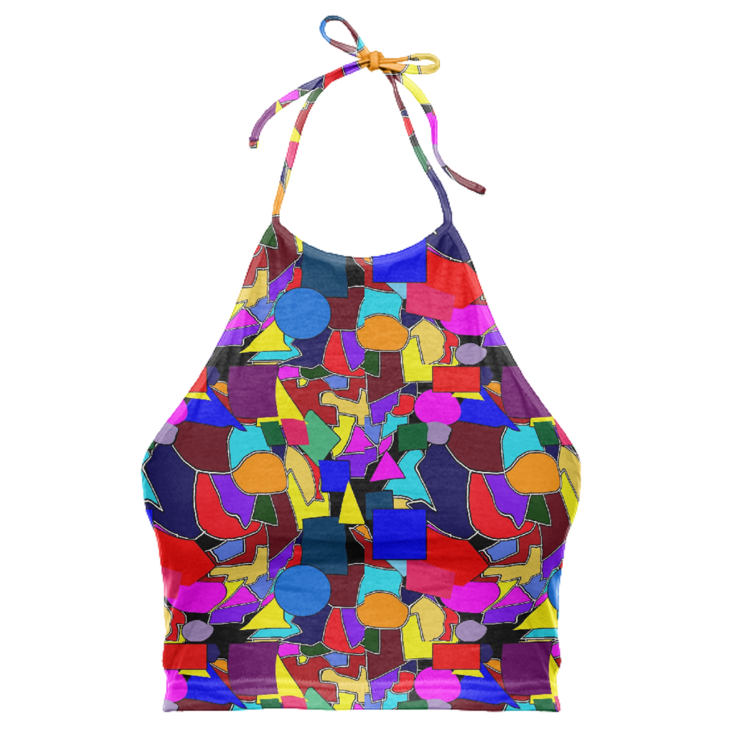 Colorful Shapes Halter Top
