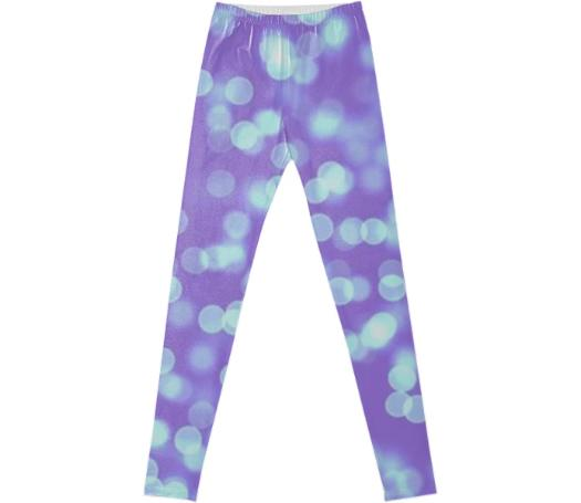 Blue Purple Bokeh Leggings