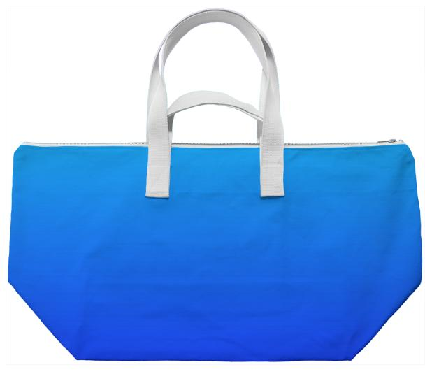 Blue Watercolor Gradient Weekend Bag