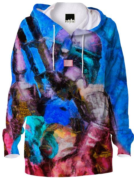 Star Wars Boba Fett Bright Blue Hoodie