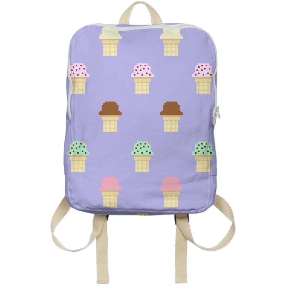 Ice cream Print backpack