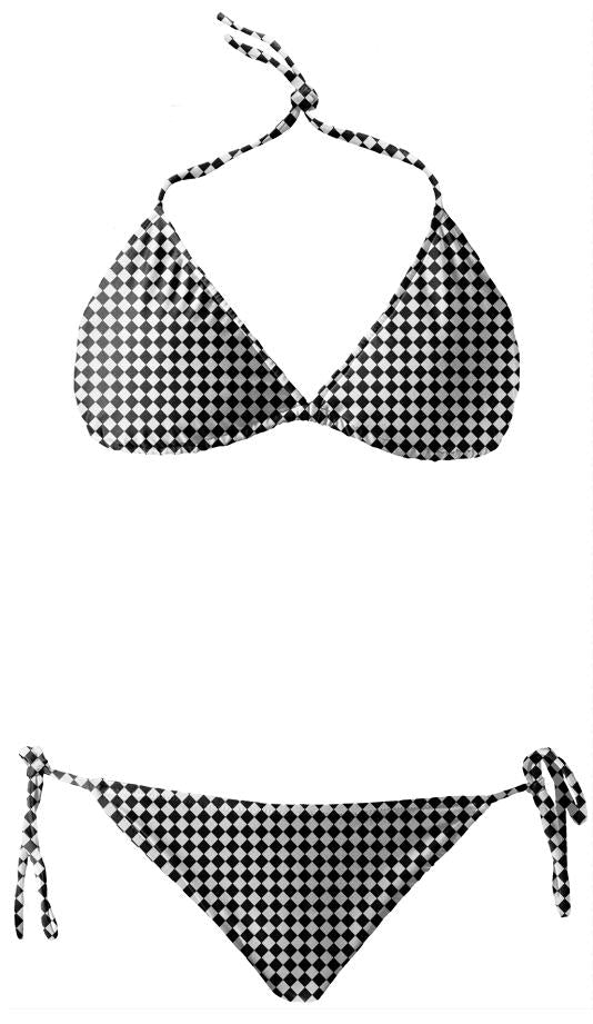 Black And White Diamonds Bikini