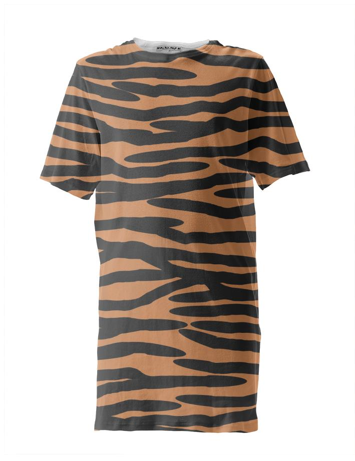 Tiger Skin Pattern Tall Tee Shirt