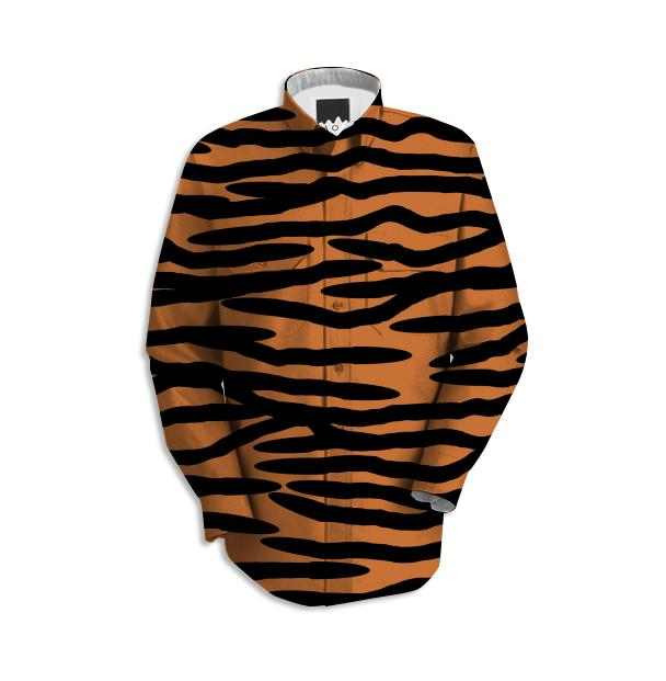 Tiger Skin Pattern Work Shirt