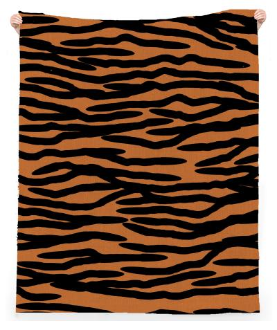 Tiger Skin Pattern Beach Towel