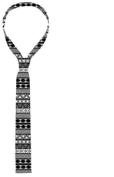 Black And White Tribal Art Tie