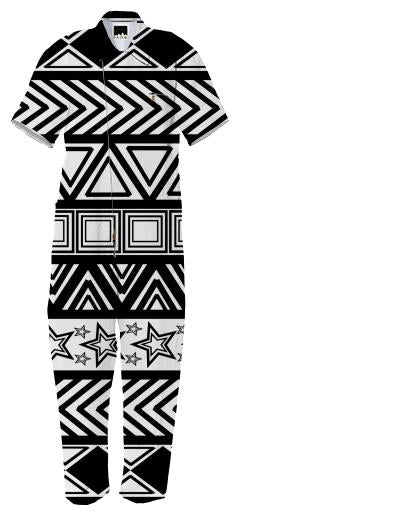 Black And White Tribal Art Jumpsuit