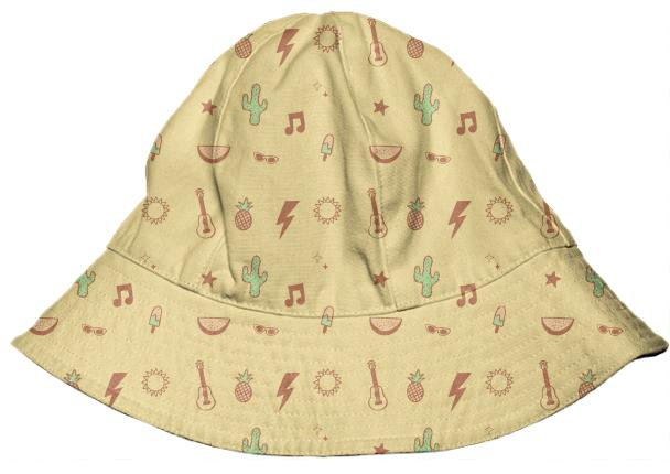 Summer vibes kids bucket hat in yellow – PAOM 072db37ae26