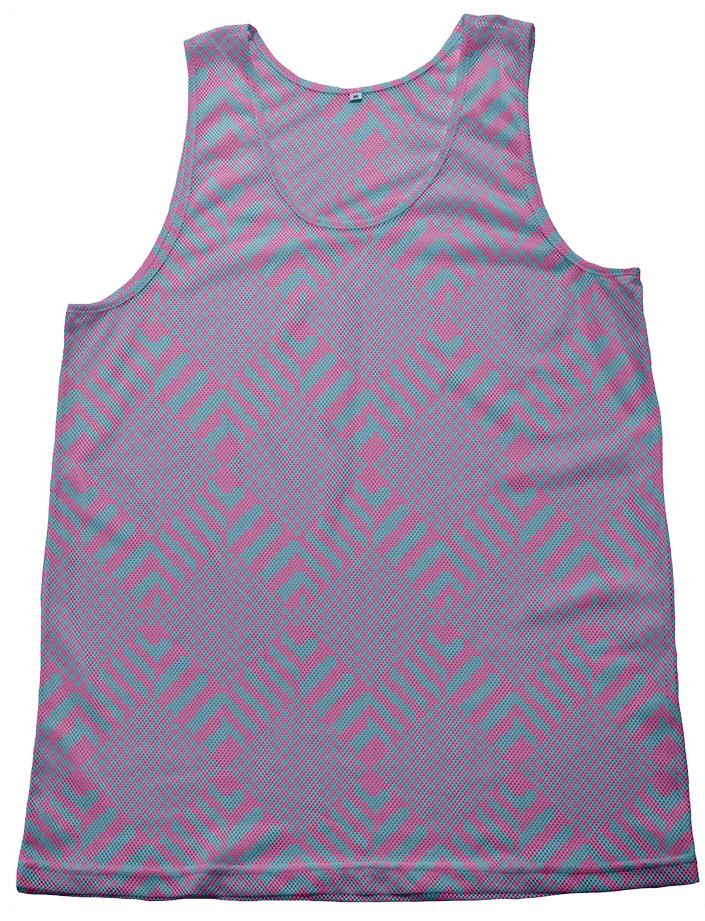 zigzag mountain tank purple and teal