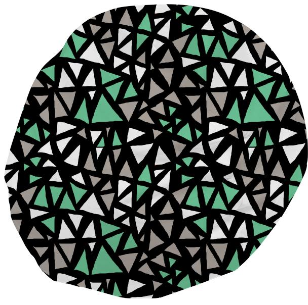Mint Dynamo Triangles Bean Bag
