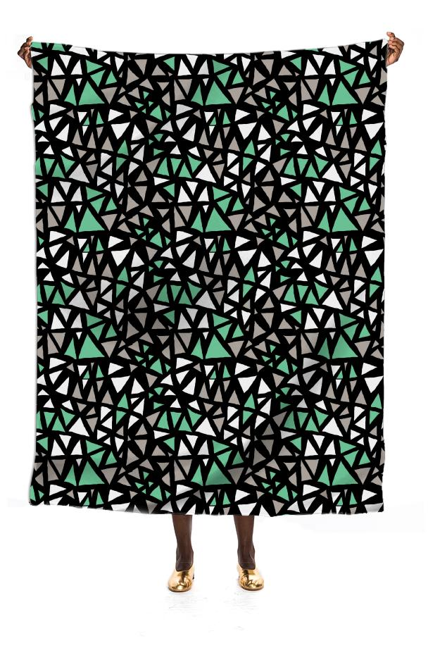 Mint Dynamo Silk Scarf by Katrina Ward