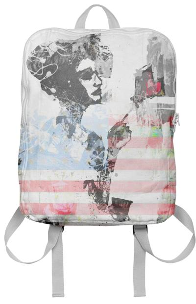 Leon red american girl print