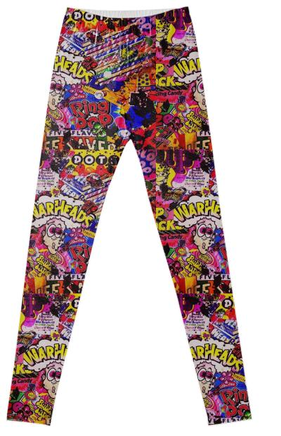 90s candy collage leggings
