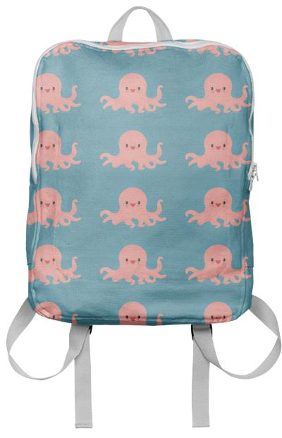 Pink Octopus Backpack