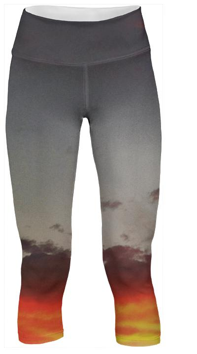 Sunset Clouds Yoga Pants