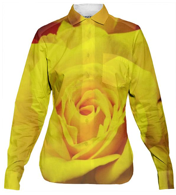 Yellow Rose Women s Button Down