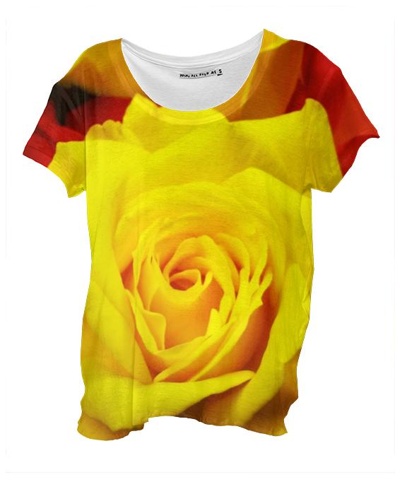 Yellow Rose Drape Shirt