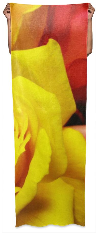 Yellow Rose Wrap Scarf