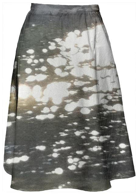 Sunlight Reflection Midi Skirt