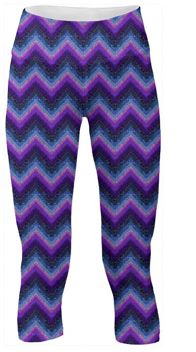 Purple and Blue Marbleized Chevrons