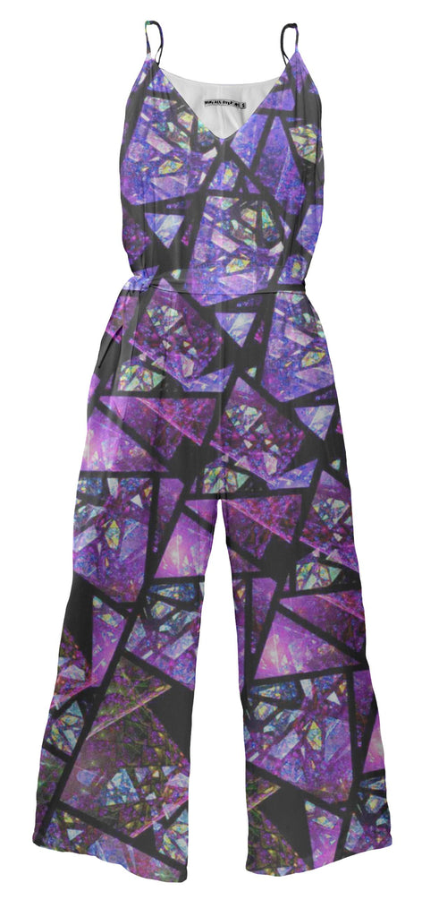 Purple Stained Glass Jumpsuit