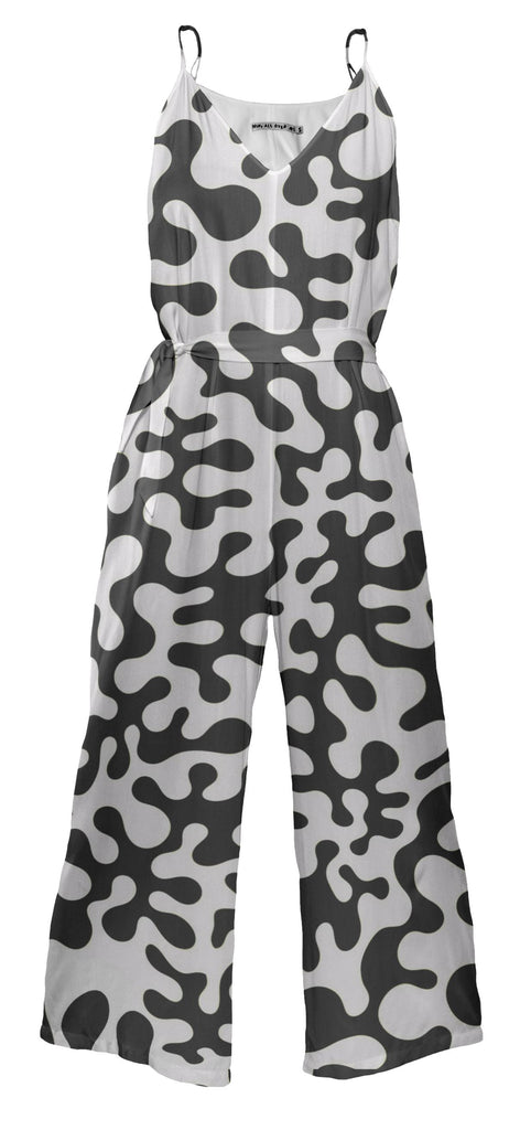 Black and White Blots Jumpsuit