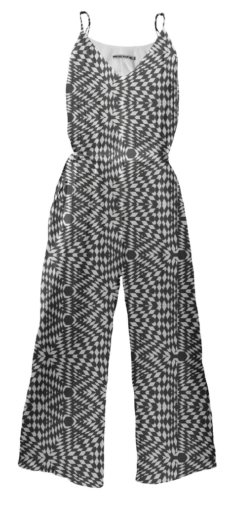 Wicked trippy black and white pattern Jumpsuit