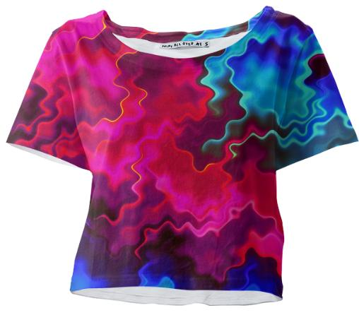Psychedelic Pink Wavy Tee Shirt