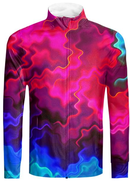Psychedelic Pink Wavy Tracksuit Jacket