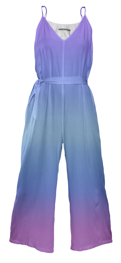 Fading Blue to Lavender Jumpsuit