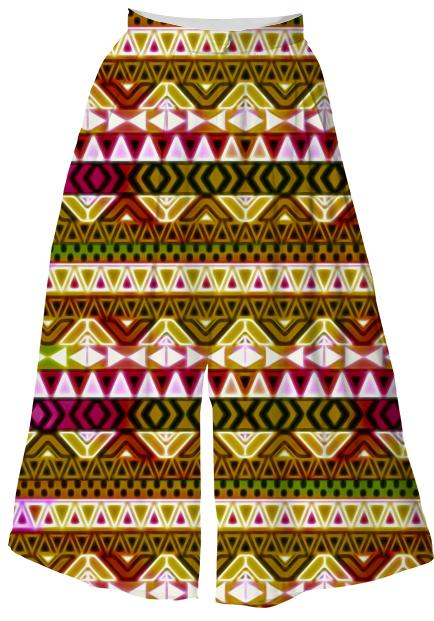 Gold Tribal Pattern Culottes