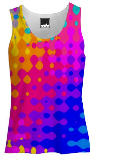 Psychedelic Hippy Pattern Tank Top