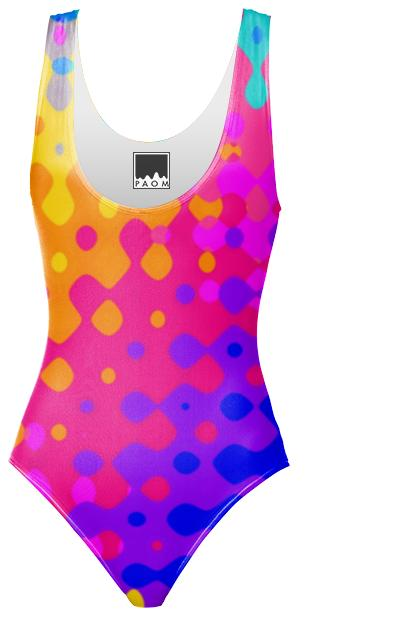 Psychedelic Hippy Pattern Swim Suit